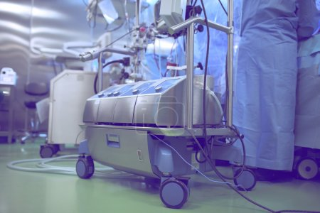 Cardiopulmonary bypass machine during heart surger...
