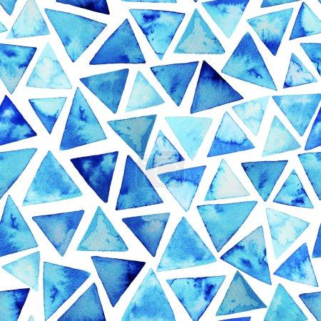 Patrón con triángulos de acuarela .