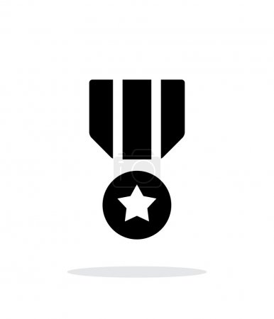 Illustration for Military medal seample icon. Vector illustration. - Royalty Free Image