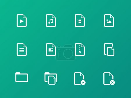 Set of Files icons on