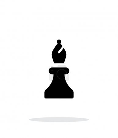 Chess Bishop simple icon on white background.