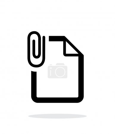 Attached file icon on white background.