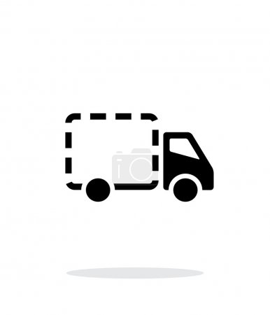 Empty delivery truck icon on white background.