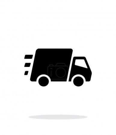 Illustration pour Icône de camion de livraison rapide sur fond blanc. Illustration vectorielle. - image libre de droit