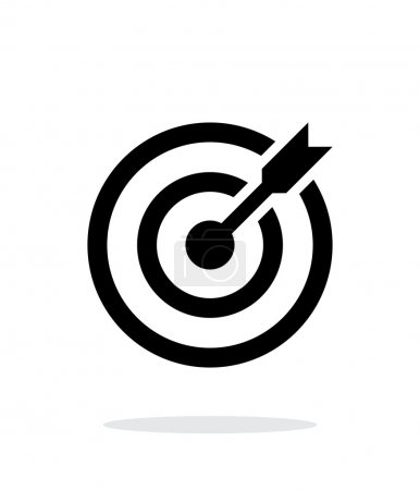 Successful shoot. Darts target aim icon on white b...