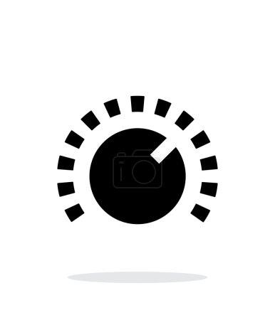 Music knob icon on white background.