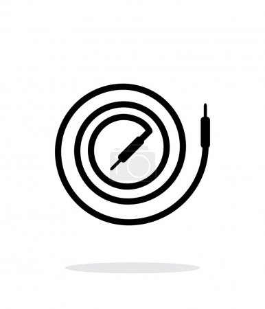 Audio cable icon on white background.