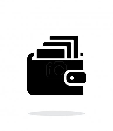 Cash in wallet icon on white background.