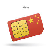 China mobile phone sim card with flag