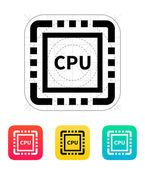 CPU icon. Vector illustration.