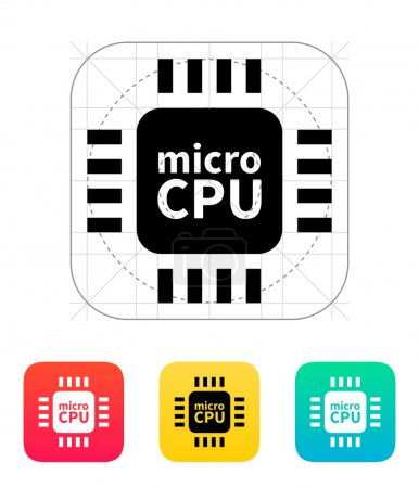 Micro CPU icon. Vector illustration.