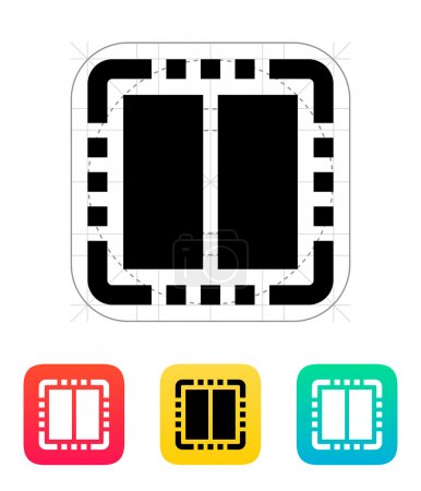 Dual Core CPU icon. Vector illustration.