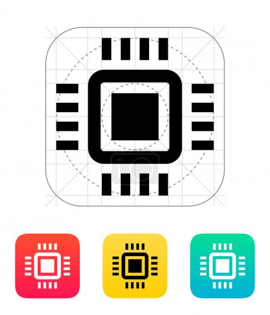 Mini CPU icon. Vector illustration.