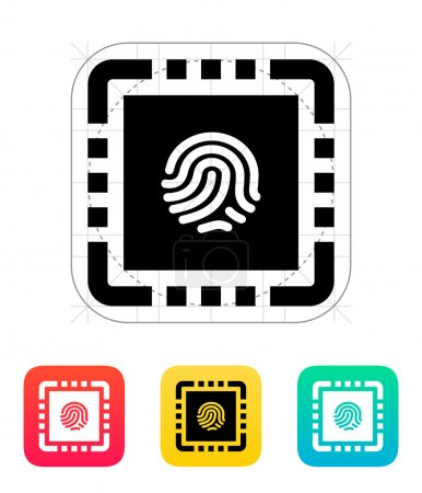 CPU Secure icon. Vector illustration.