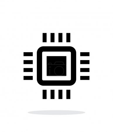 Mini CPU simple icon on white background.