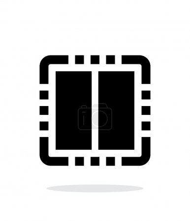 Dual Core CPU simple icon on white background.