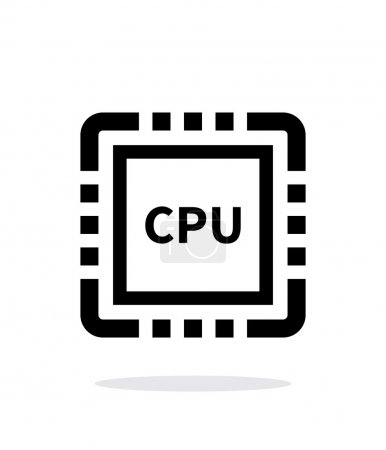 CPU simple icon on white background.