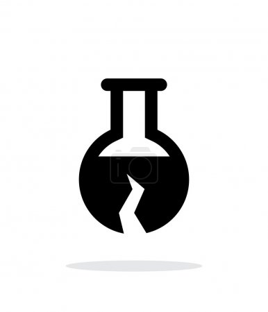 Illustration for Broken florence flask bulb simple icon on white background. Vector illustration - Royalty Free Image