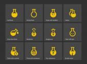 Laboratory flask icons