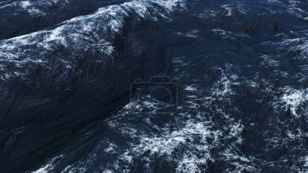 Photo for Sea waves view at storm - Royalty Free Image