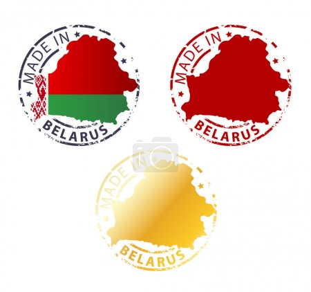 Made in Belarus stamp - ground authentic stamp wit...