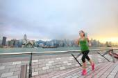 Sport woman jogging in Hong Kong