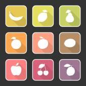 Fruit Flat Icons No1