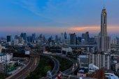 Bangkok , Thailand cityscape at dusk