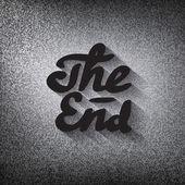 Old movie ending screen stylised noir