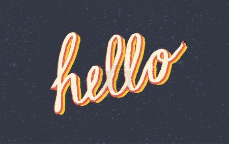 Custom stylized vintage Hello lettering
