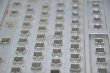 La combinación distinta de las teclas del ordenador el teclado