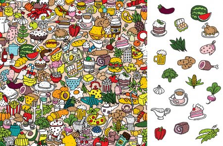 Find food, visual game. Solution in hidden layer!