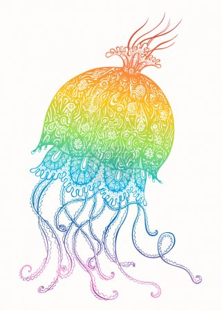 Colorful Jellyfish Illustration