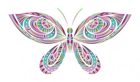 Abstract Bright Butterfly