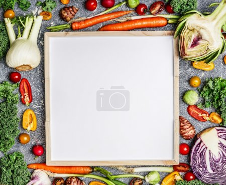 variety of fresh farm vegetables