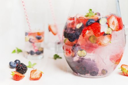 Summer drink with berries