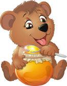 Roztomilý medvídek s medem