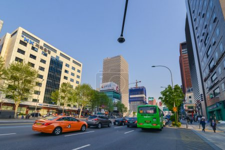 Roads and buildings in Gangnam District, Seoul