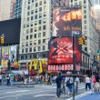 Постер, плакат: NEW YORK CIRCA 2011 giant advertising billboards around a Times Square New York