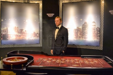Daniel Craig aka James Bond in Casino Royale wax figure in Madame Tussaud's museum in New York
