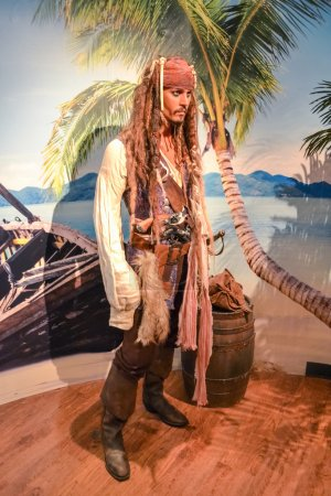 Captain Jack Sparrow aka Johnny Depp wax figure in Madame Tussaud's museum in New York