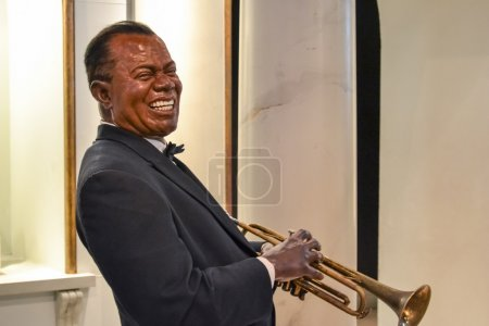 Wax portrait of Louis Armstrong at Madame Tussaud's museum in New York