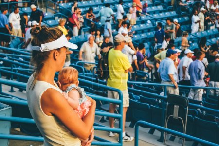 CINCINNATI, OH - CIRCA 2011: people watch match at Lindner Family Tennis Center on Western & Southern Open tournament in Cincinnati, OH, USA at summer 2011.