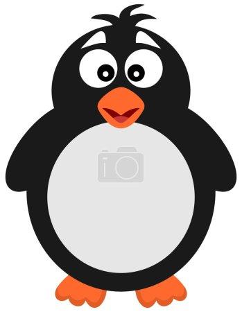 Illustration pour Grand pingouin seul - image libre de droit