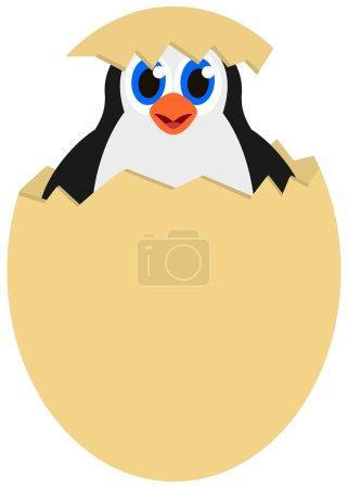 Illustration pour Pingouin dans un œuf - image libre de droit