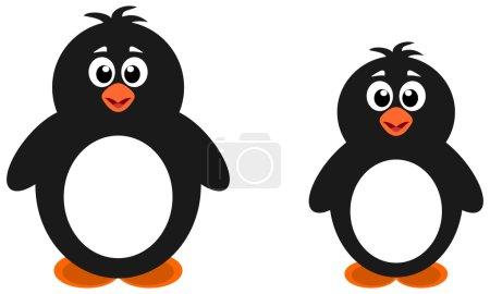 Illustration pour Deux gros pingouins - image libre de droit