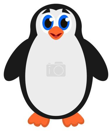 Illustration pour Un seul pingouin - image libre de droit