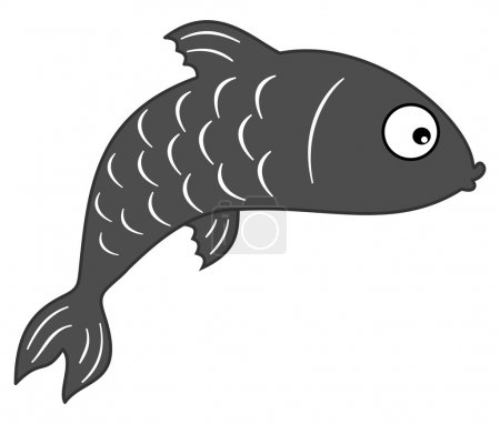Illustration for Fish grey shadow - Royalty Free Image