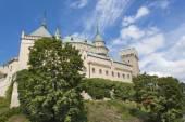 Történelmi vára Bajmóc/Bojnice, Szlovákia. Egy régi vár a tizenkettedik században épült