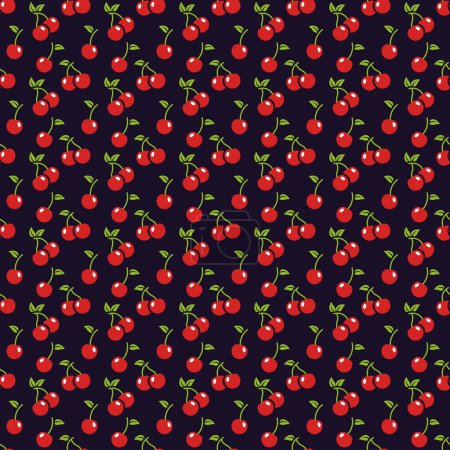 Cherry seamless pattern.